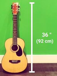 a three quarter size guitar