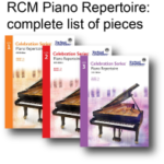 List of all RCM piano repertoire pieces