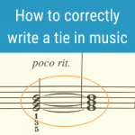 example of a tie in music