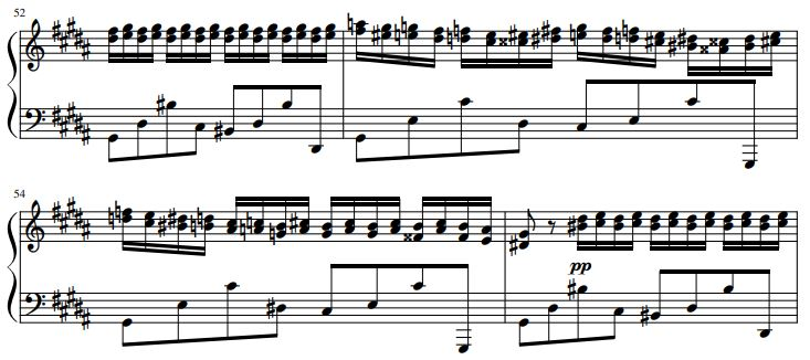 excerpt of Chopin's composition