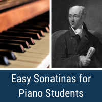 easy sonatinas for piano students cover image
