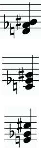 examples of accidentals with 3-note chords
