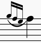 three-note grace note example