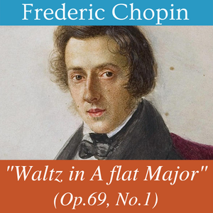 cover image for waltz in a flat major by chopin